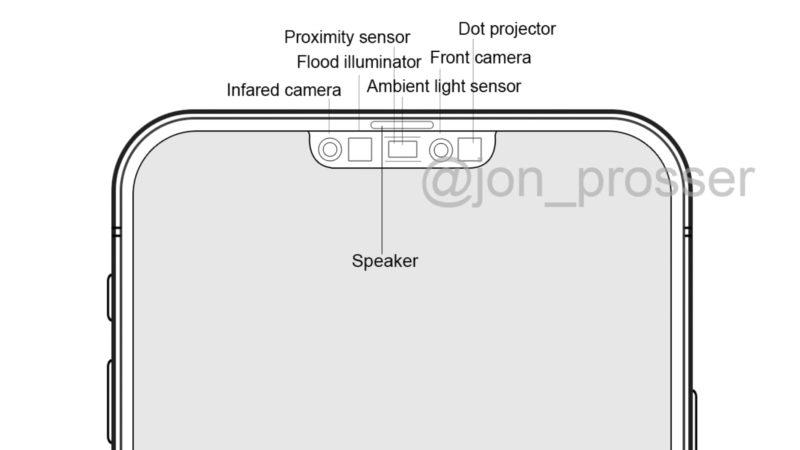 Desenho de suposto iPhone 12 com notch menor