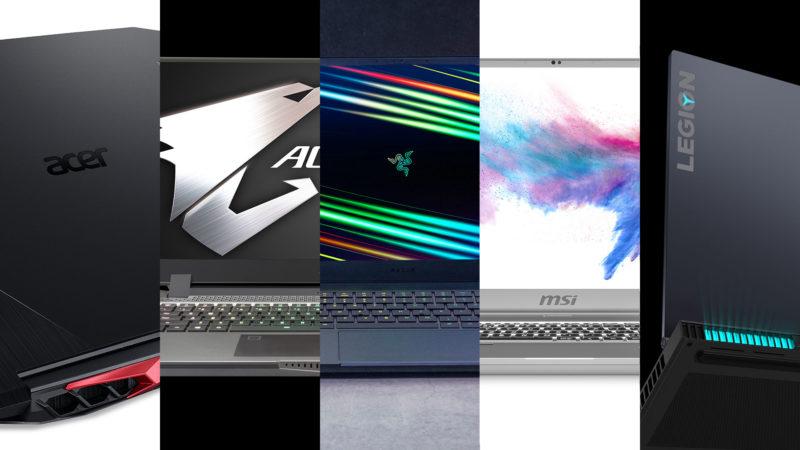 Montagem com laptops com novos chips da Intel e da Nvidia