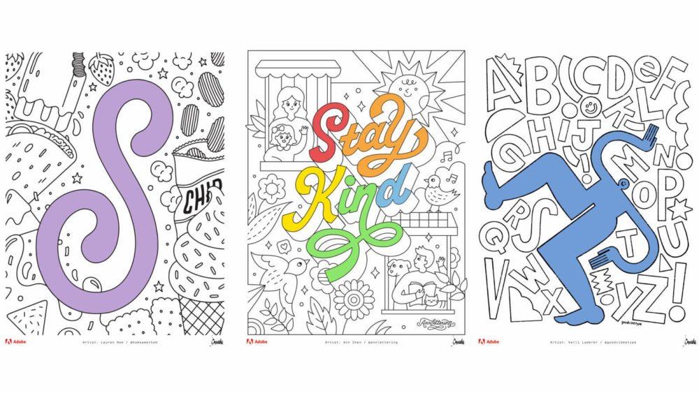 Adobe lança livro de colorir gratuito para a quarentena