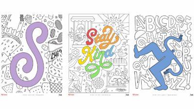 Páginas de colorir da Adobe