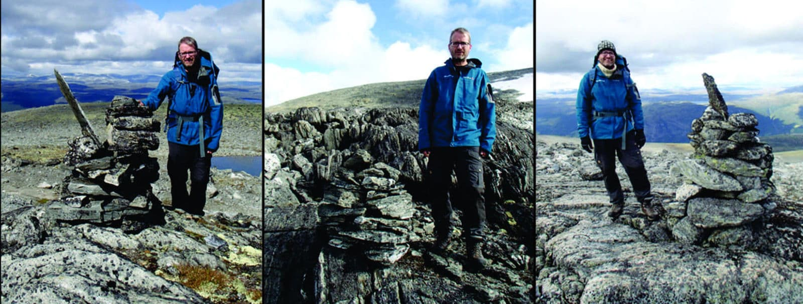 Pedras encontradas ao longo da passagem na montanha