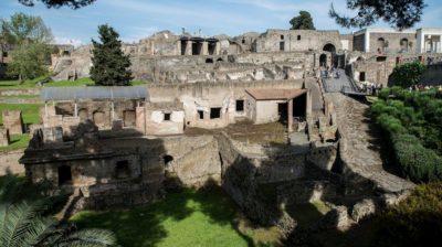 Sítio arqueológico de Pompéia, na Itália