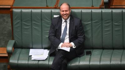 Tesoureiro da Austrália, Josh Frydenberg, em imagem tirada em abril de 2020. Crédito: Getty Images
