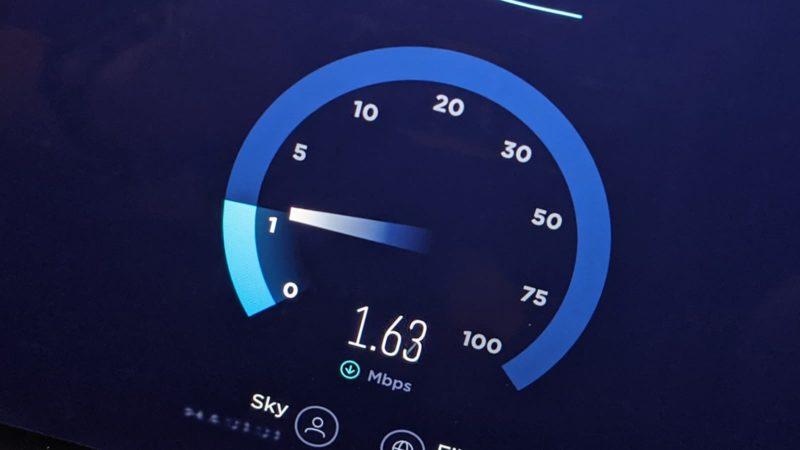 Medidor de velocidade de internet