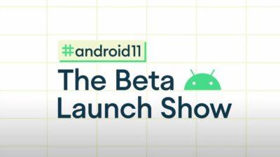 Capa promocional do evento do Android 11
