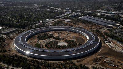 Sede da Apple em Cupertino, Califórnia, em 2017