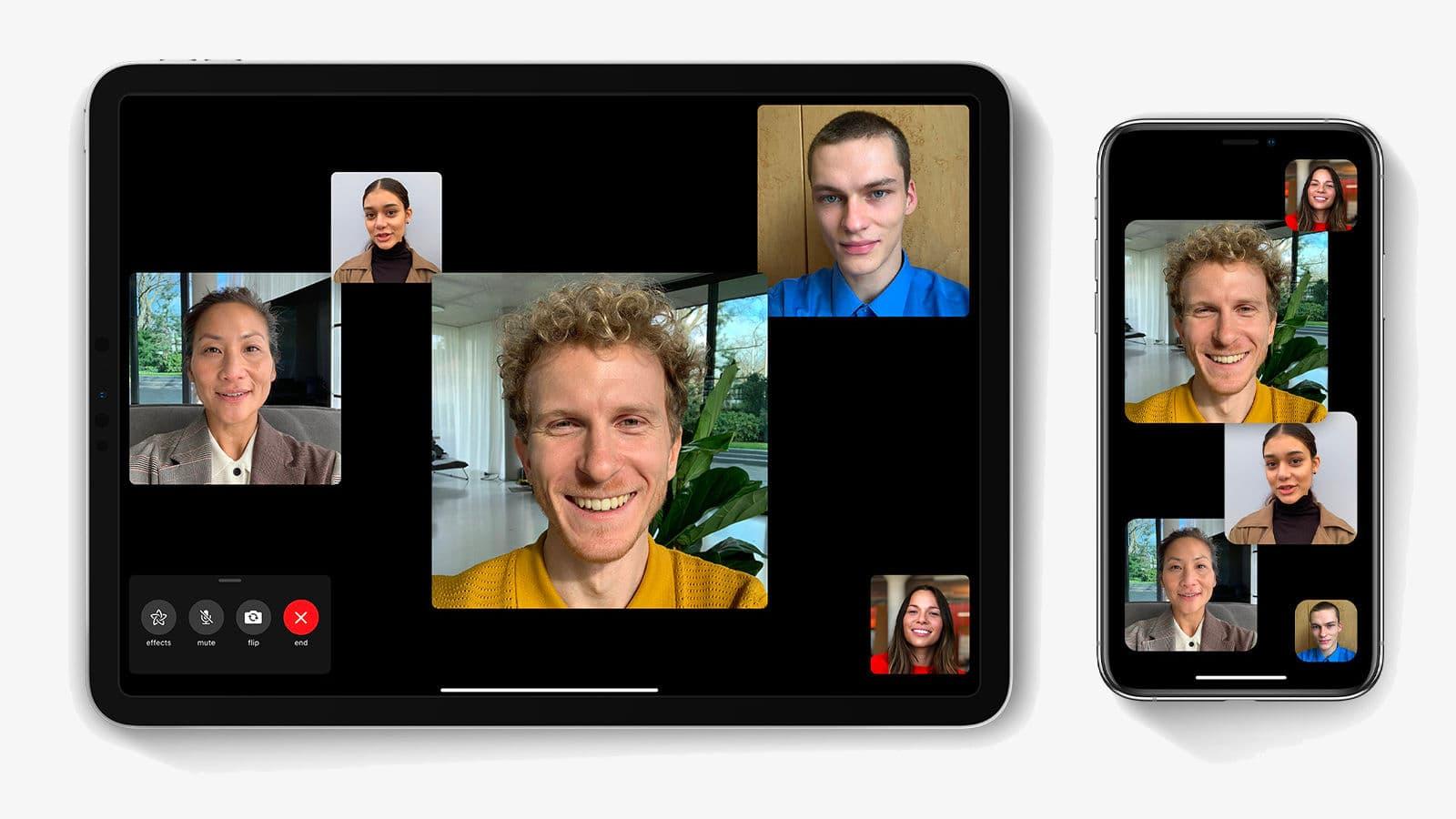 Tela do do Apple FaceTime
