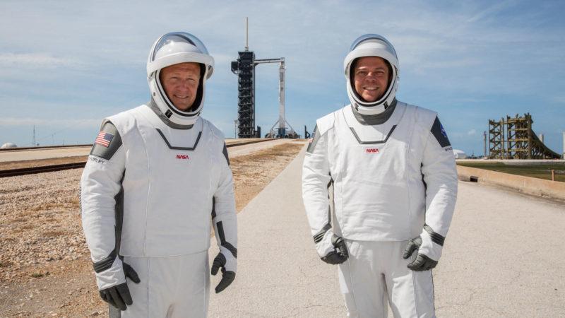 Os astronautas Robert Behnken e Douglas Hurley. Crédito: NASA