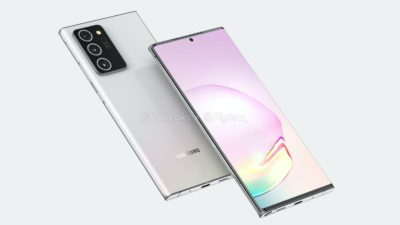 Renderização do possível Galaxy Note 20