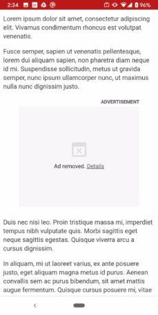 google anuncio bloqueado 229x457 - Chrome vai passar a bloquear propagandas pesadas em agosto