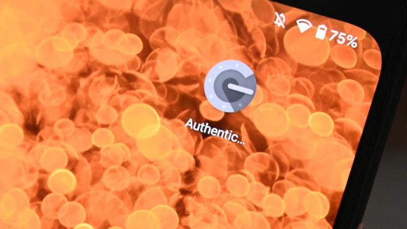 Aplicativo do Google Authenticator