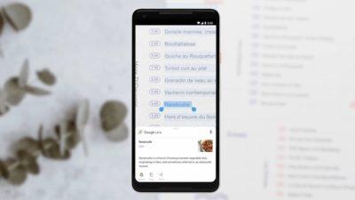 Google Lens identificando texto