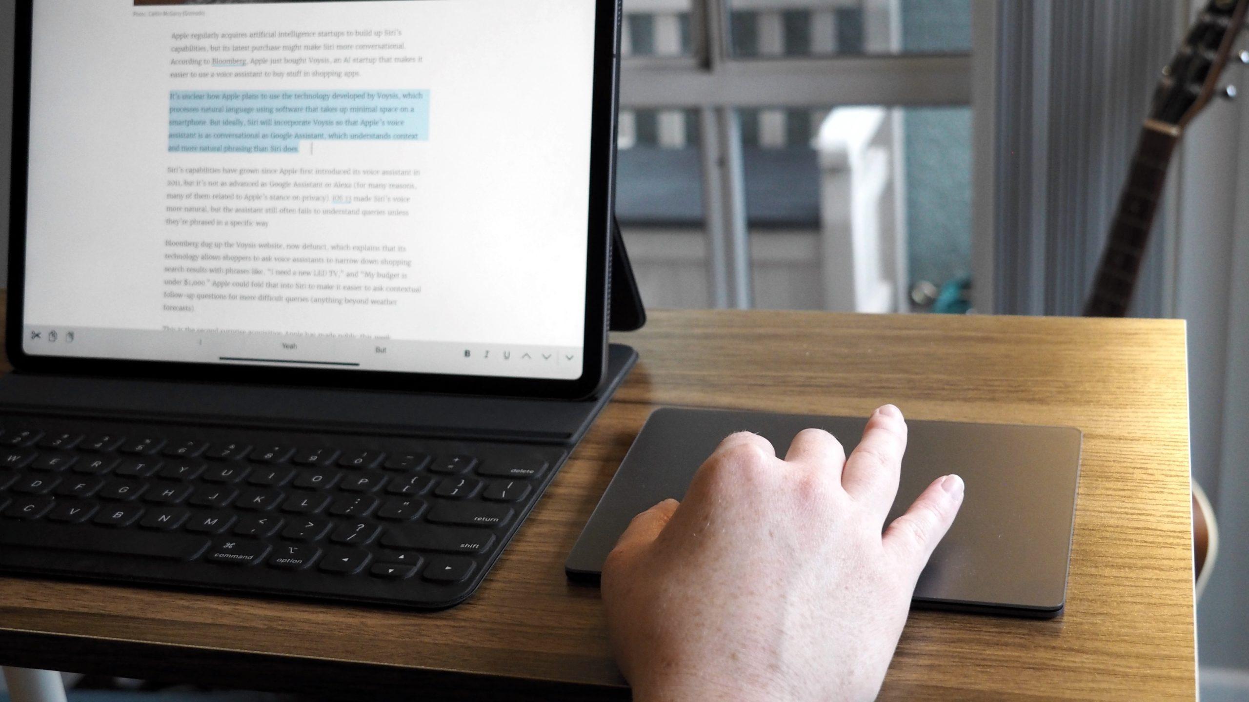 Trackpad funcionando com o iPad Pro 2020