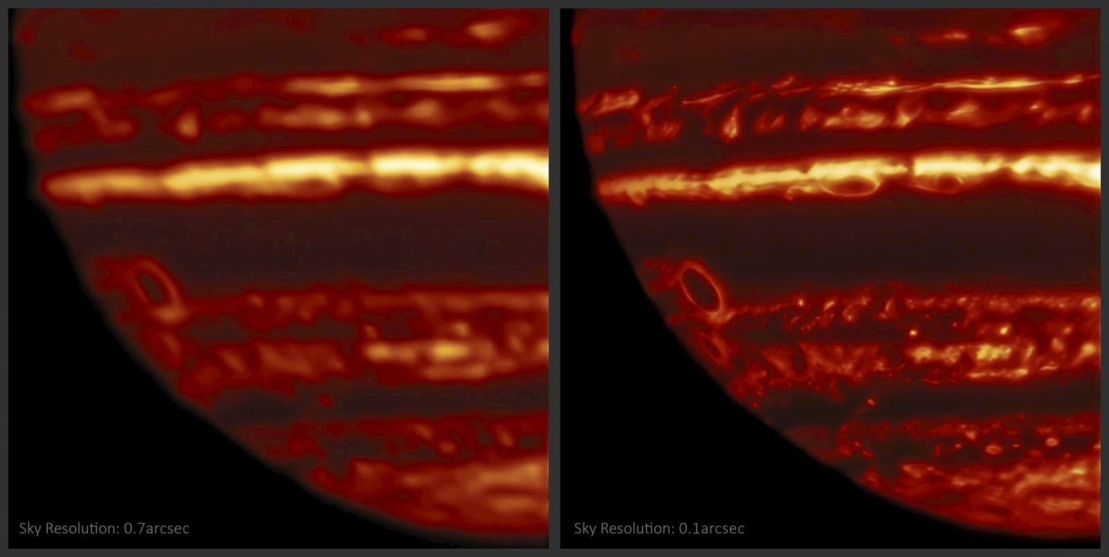 Imagens em infravermelho de Júpiter