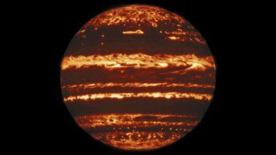 Júpiter em imagem infravermelha
