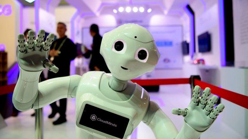 robô com aspecto de humano