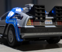 Detalhe do DeLorean, da Playmobil