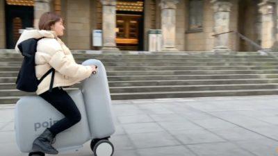 Poimo, a bike elétrica inflável