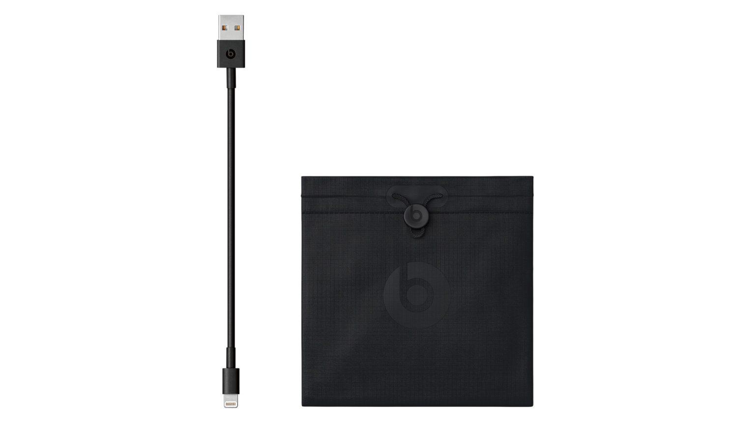 Bolsa e cabo carregador do Powerbeats 4