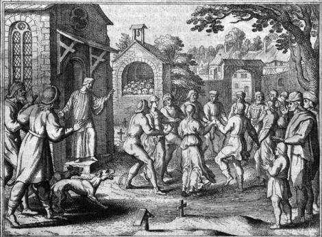 Praça da dança em gravura do século 17. Crédito: Commons