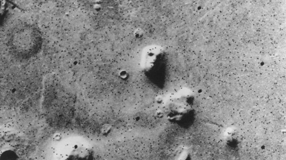 Rosto em Marte. Crédito: NASA