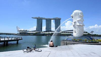 Foto de arquivo do Merlion Park em Singapura a partir de 15 de maio de 2020.