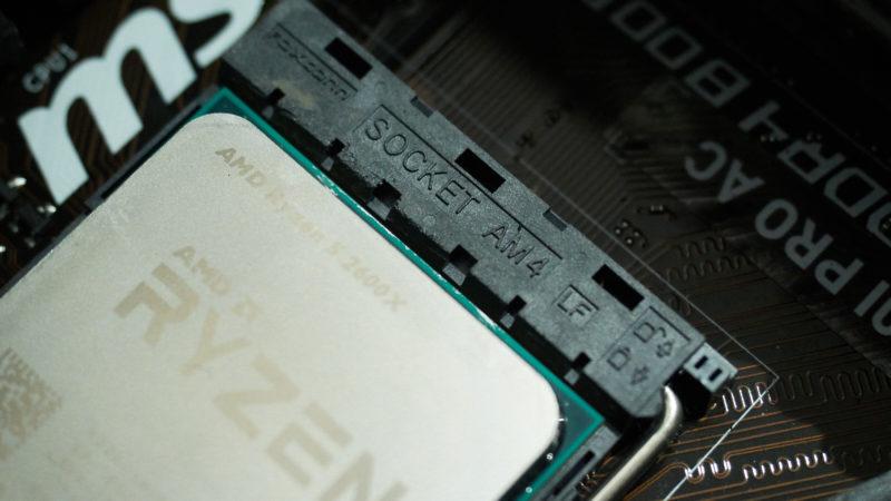 Soquete AM4, da AMD. Crédito: Alex Cranz/Gizmodo