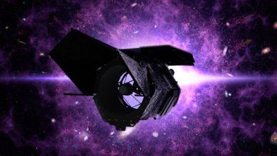 Concepção artística do telescópio espacial Nancy Grace Roman. Crédito: NASA