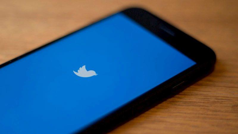 Tela de início do Twitter
