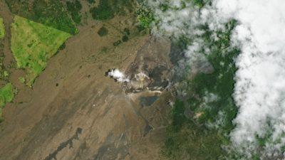 Imagem aérea do vulcão Halema'um'u