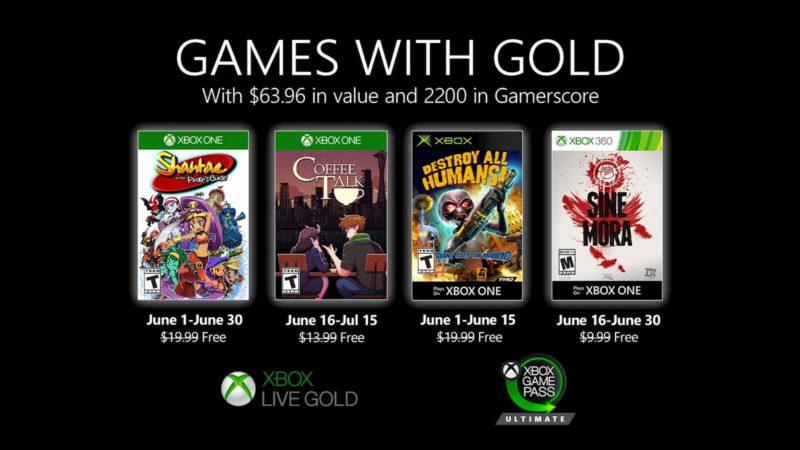 Xbox Live Gold: jogos de junho de 2020