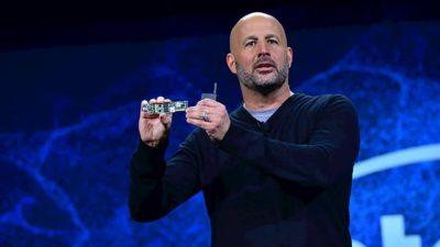 Gregory Bryant, vice-presidente sênior da Client Computing Group na Intel, na CES 2019, em Las Vegas.