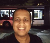 Selfie tirada com o Moto G8