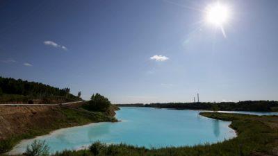 Aterro de uma usina de energia em Novosibirsk, cidade da região russa da Sibéria