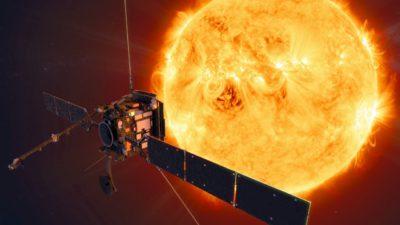 Representação artística do Solar Orbiter