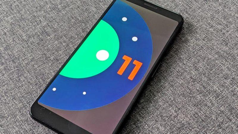Tela do Android 11
