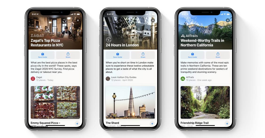 Apple Mapas no iOS 14