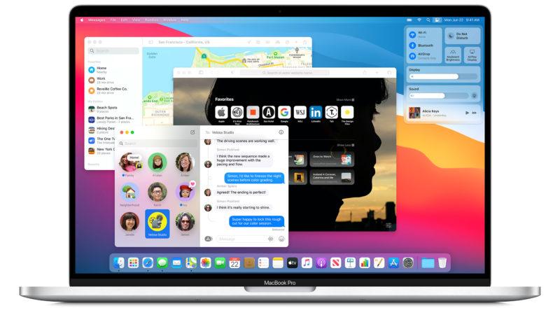 macOS Big Sur. Crédito: Apple