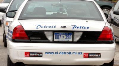 Carro da polícia de Detroit, nos EUA. Crédito: Bill Pugliano/Getty