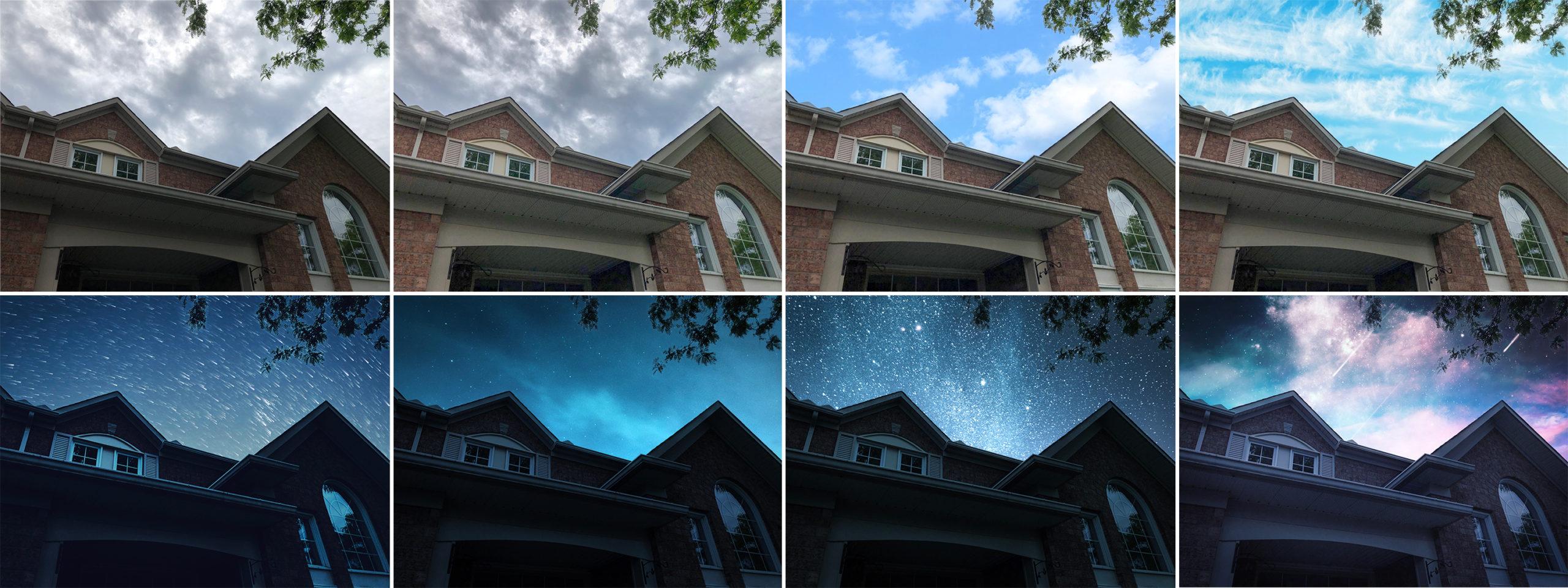 Foto original (à esquerda) e as outras são de filtros do app Photoshop Camera
