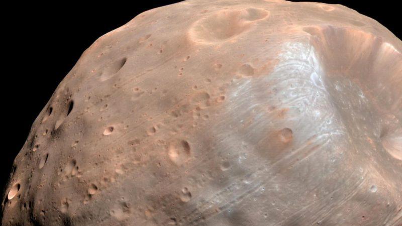 Fobos, uma das luas de Marte