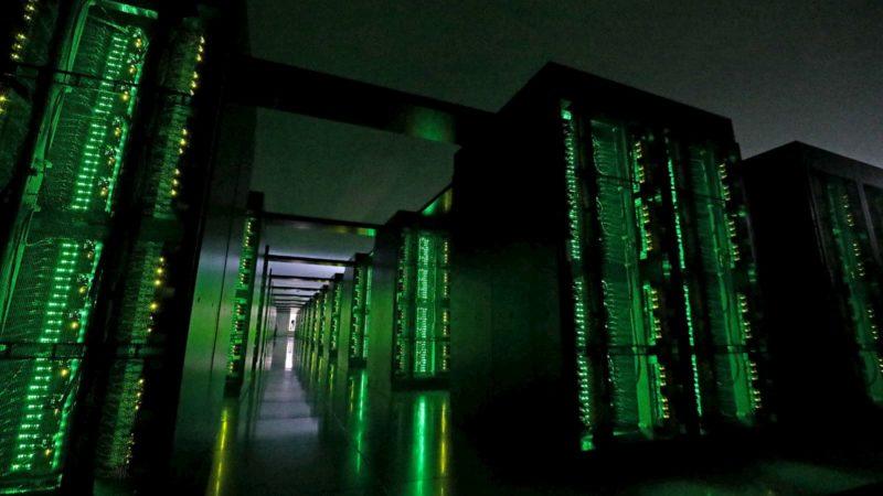 Supercomputador Fugaku no Riken Center for Computational Science, em Kobe, em junho de 2020
