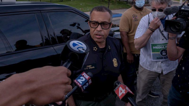 Chefe da Polícia de Detroit, James Craig, em 3 de junho de 2020.