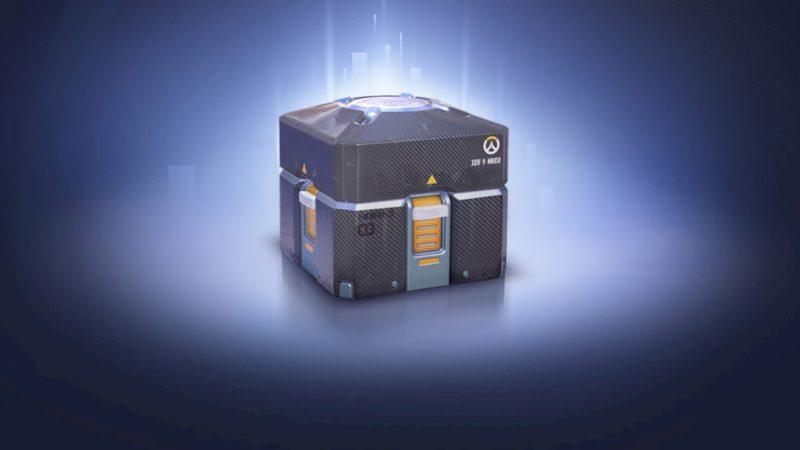 Uma loot box do jogo Overwatch