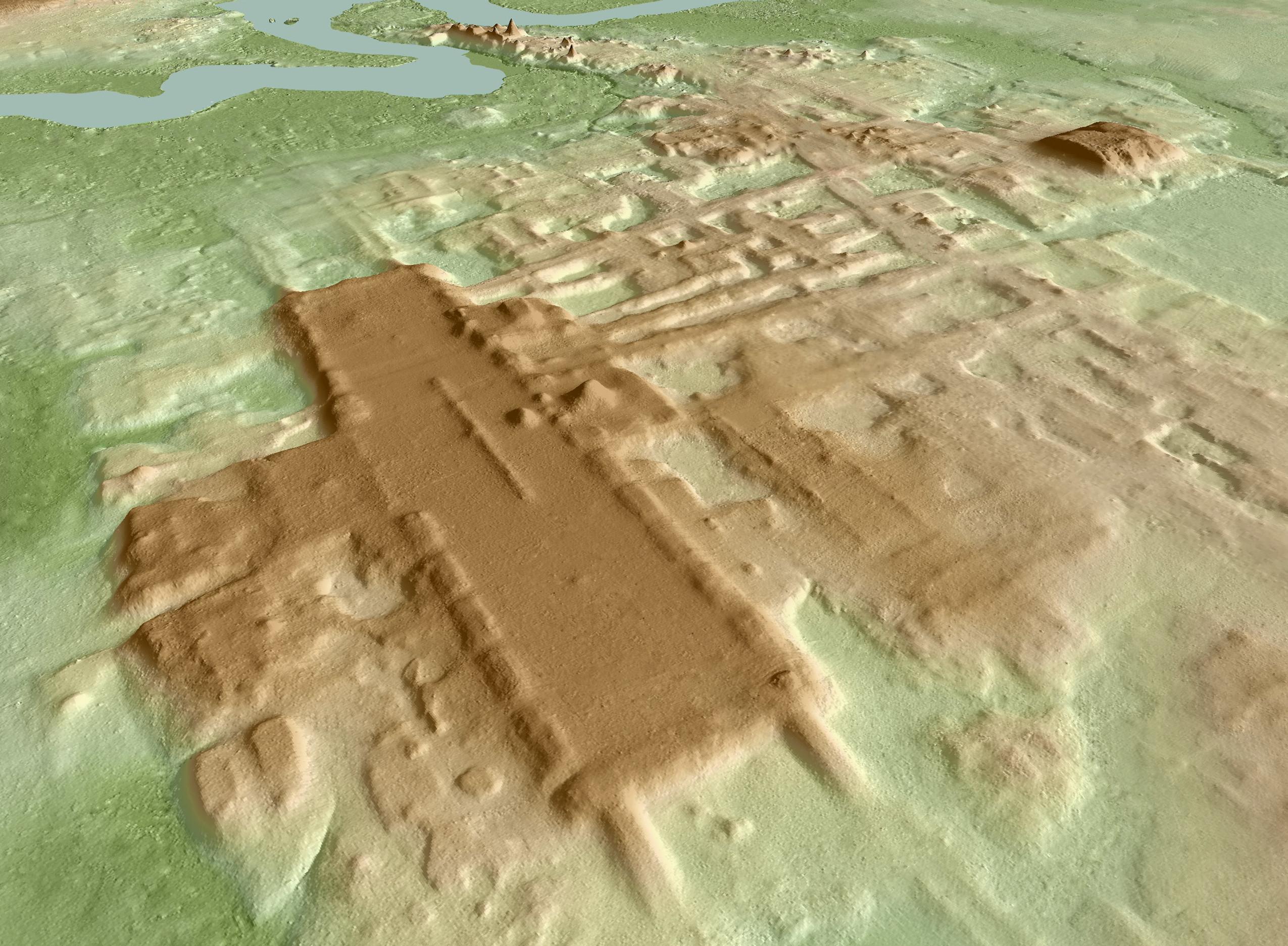 Imagem 3D de Aguada Fénix feita com o Lidar