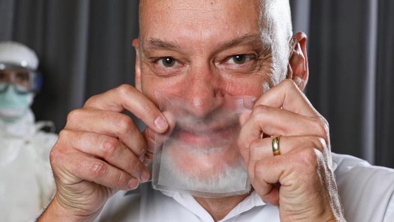 Material transparente respirável. Crédito: EPFL