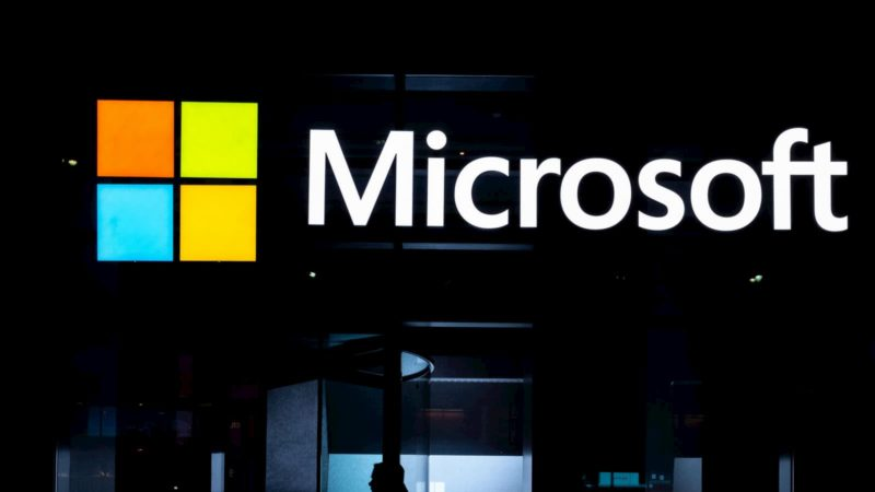 Letreiro da Microsoft