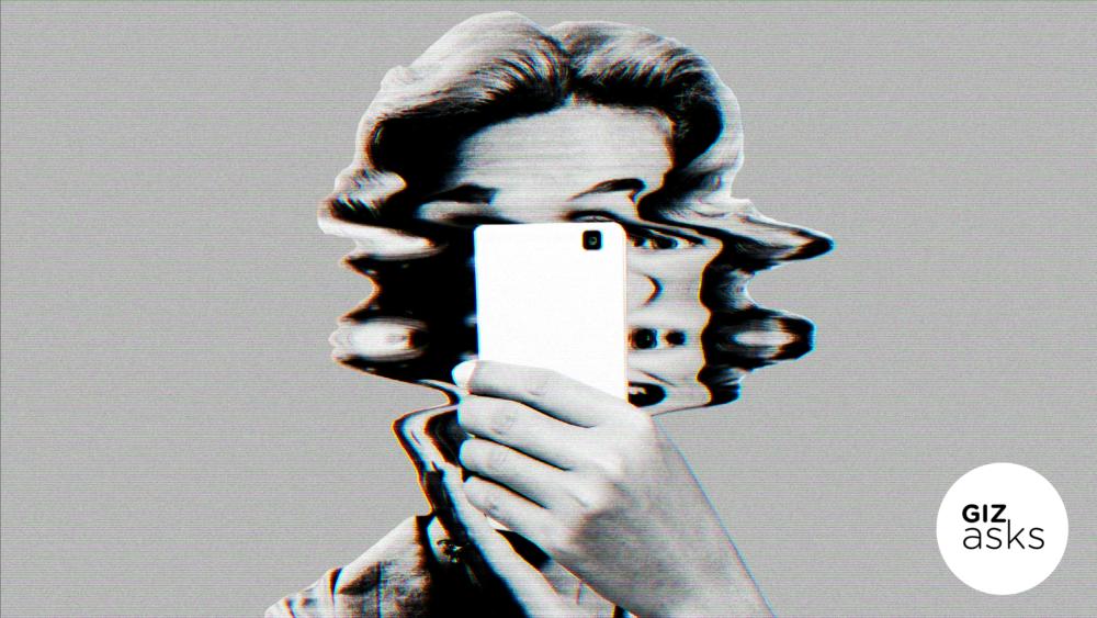 Por que as minhas selfies saem tão estranhas?