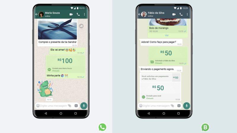 sistema de pagamento do WhatsApp começa a ser liberado no Brasil