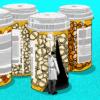 Arte com frascos com pílulas de placebo. Crédito: Benjamin Currie/Gizmodo